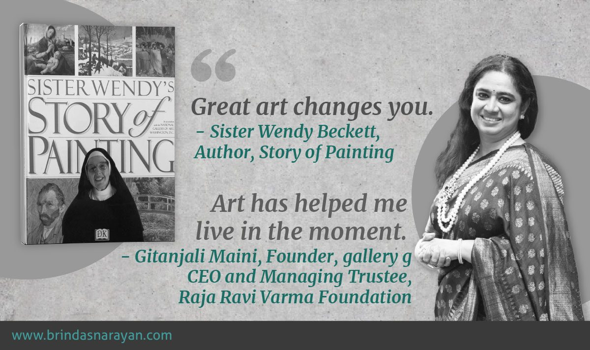 How Careers in Art can Deepen the Spirit: The Inspiring Life Stories of Gitanjali Maini and Sister Wendy Beckett